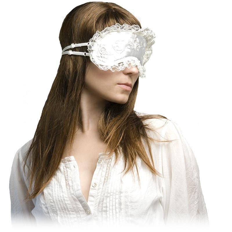 Daydream Sleep Mask - Lace Roses - White