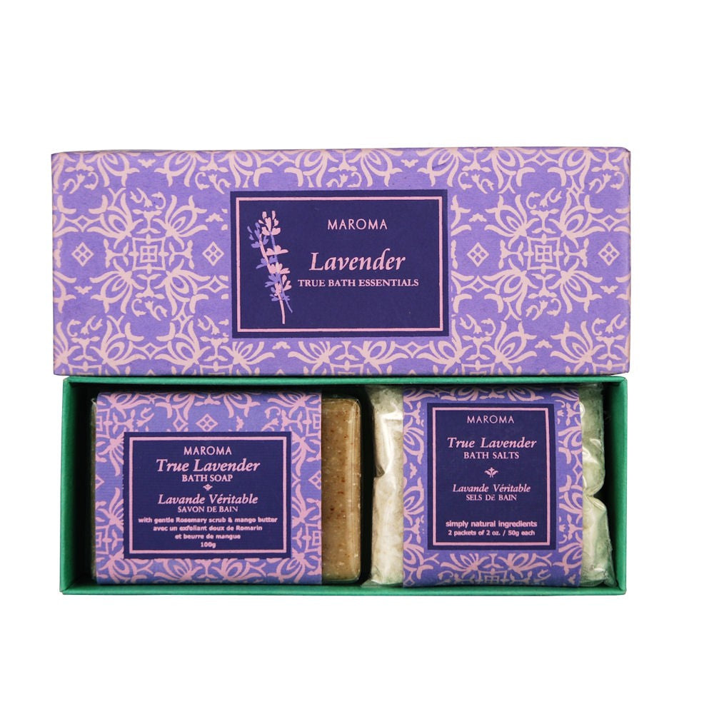 Maroma True Bath Gift Set Soap & Bath Salts - Lavender