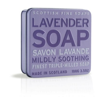 Scottish Fine Soaps - Lavender Soap in a Tin