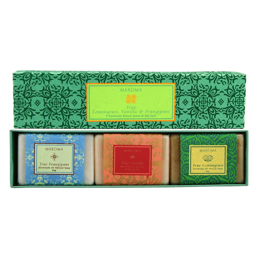 Maroma True Bath Set 3 Guest Soaps - Green Box