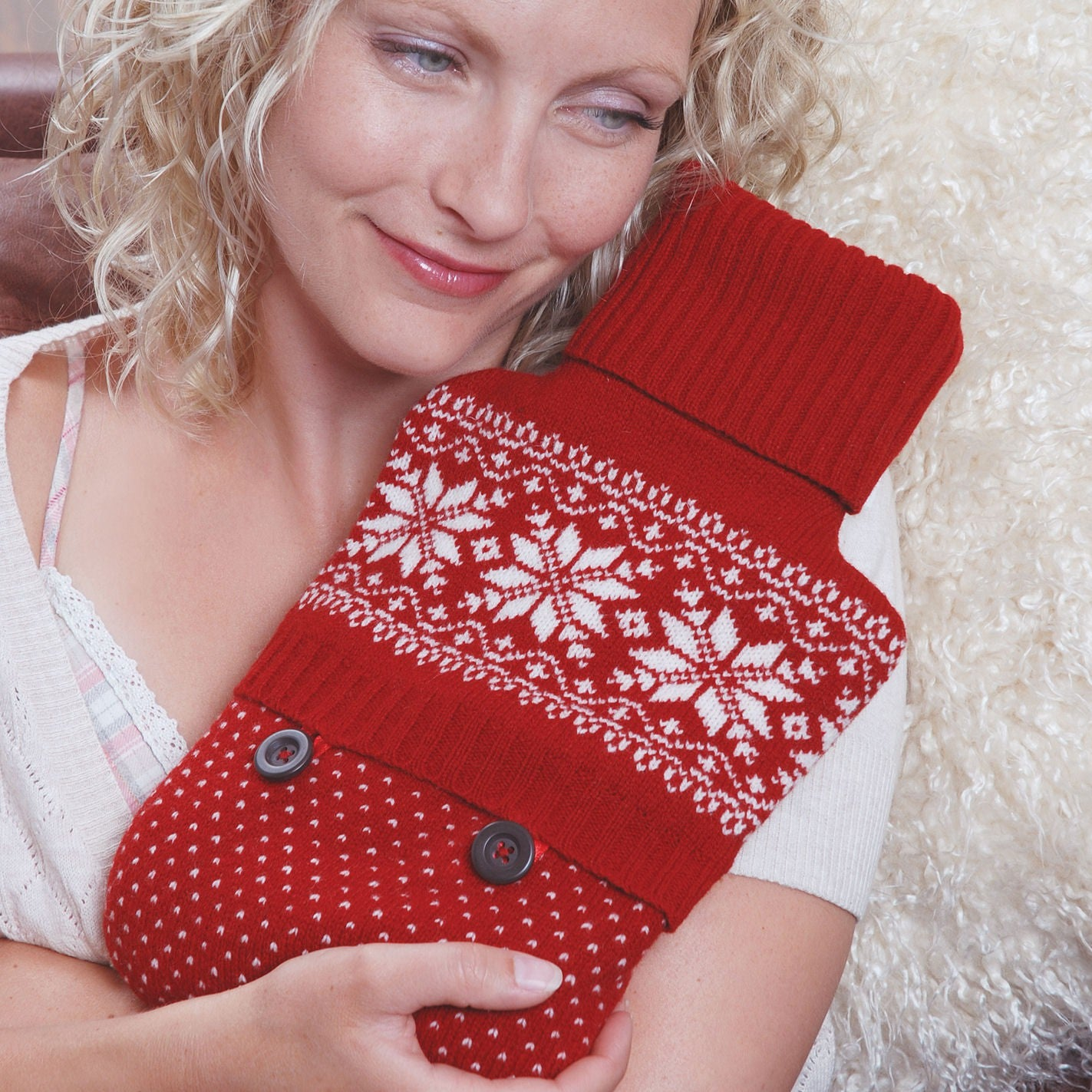 Aroma Home Festive Fun Knitted Microwaveable Body Warmer