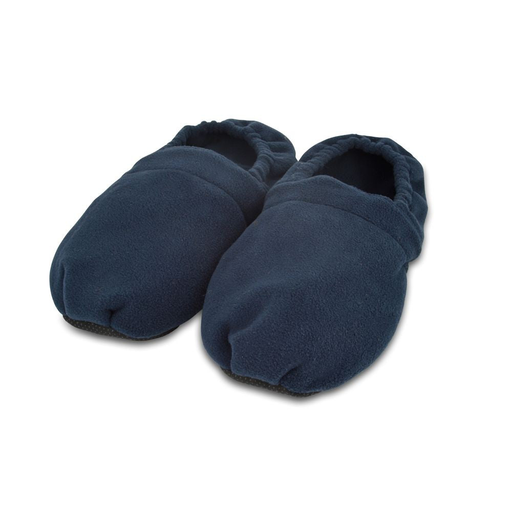 Zhu-Zhu Navy Fleece Microwavable Slippers