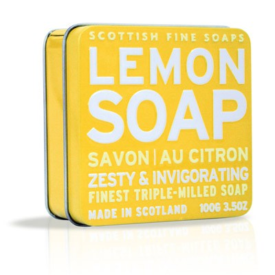 Scottish Fine Soaps - Lemon Soap in a Tin