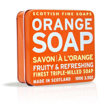 Scottish Fine Soaps - Orange Soap in a Tin
