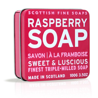 Scottish Fine Soaps - Raspberry Soap in a Tin