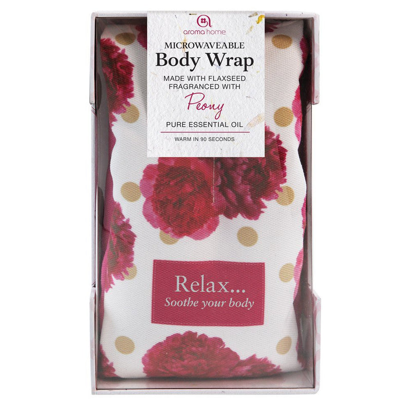 Aroma Home Peony Scented Floral Microwave Body Wrap