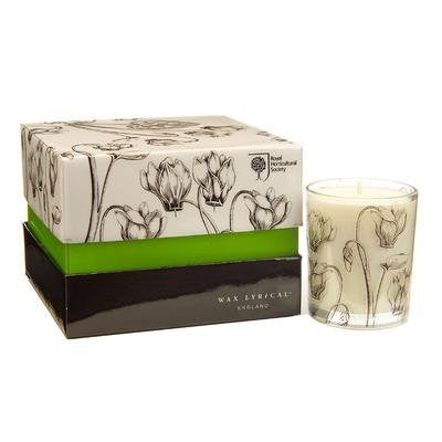 RHS Chelsea 4 Scented Bourbon Candles - Cyclamen