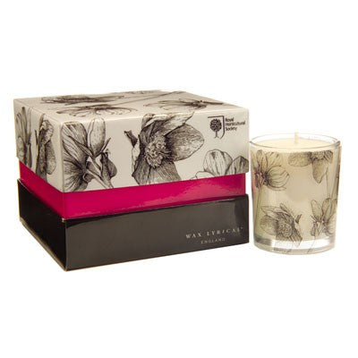 RHS Chelsea 4 Scented Bourbon Candles - Hellebore