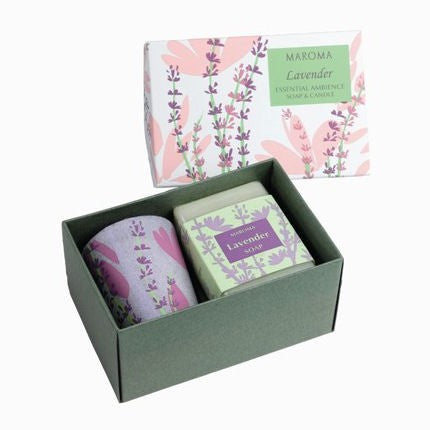 Lavender Natural Fragrant Soap & Candle Gift Set