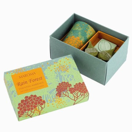 Rain Forest Natural Fragrant Incense Leaves & Candle Gift Set