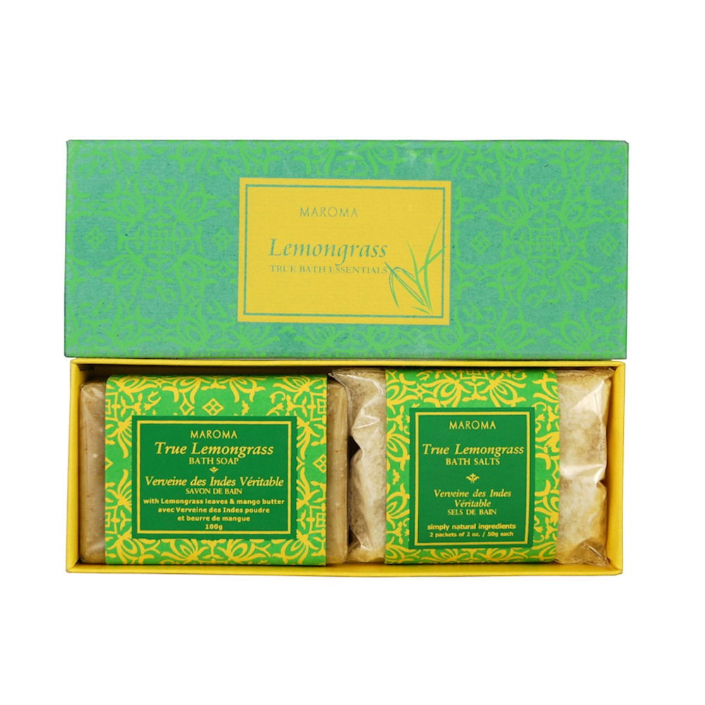 Maroma True Bath Gift Set Soap & Bath Salts - Lemongrass