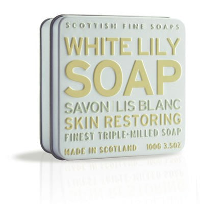 Scottish Fine Soaps - White Lily Soap in a Tin