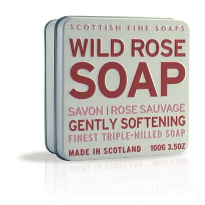Scottish Fine Soaps - Wild Rose Soap in a Tin