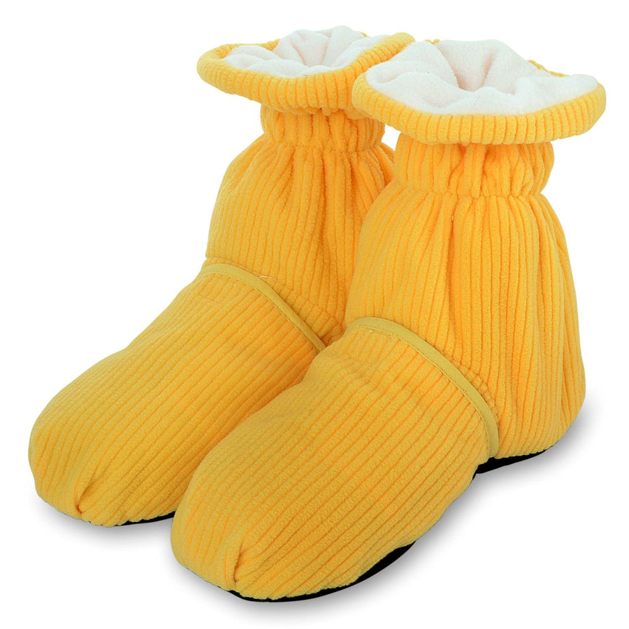 Zhu-Zhu Cozy Toes Microwavable Feet Warmers - Yellow Slipper Boots