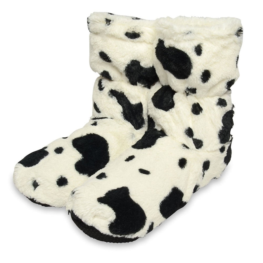 Zhu-Zhu Cow Plush Feet Warmers - Microwavable Slipper Boots