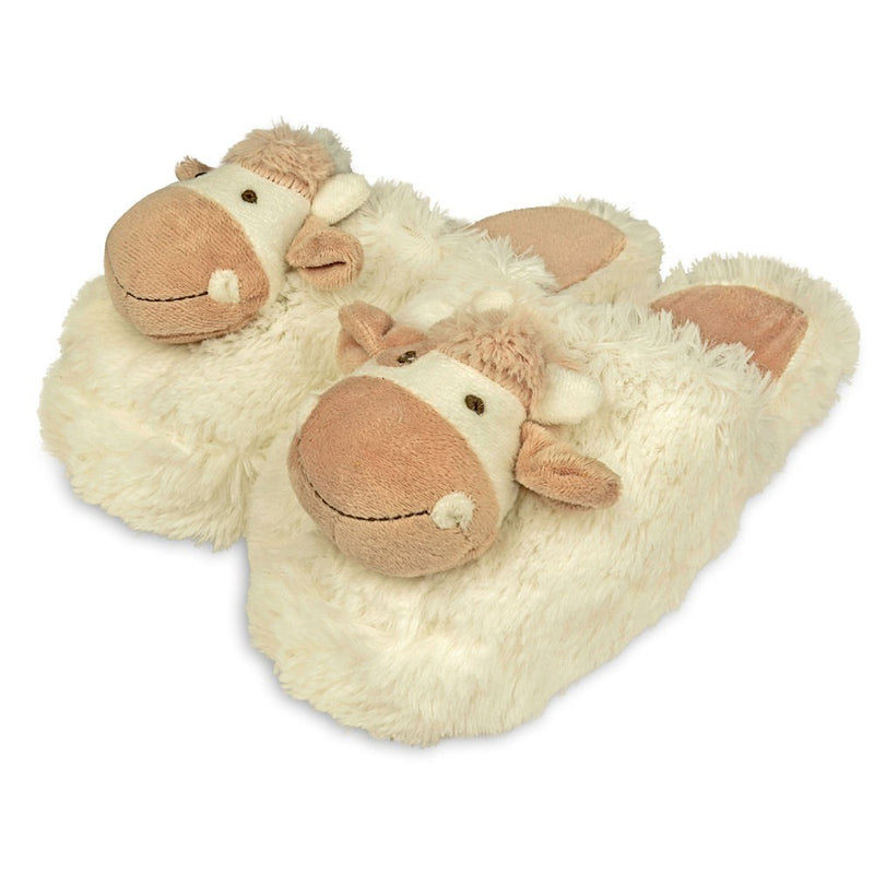 Zhu-Zhu Furry Animal Slippers - Cow