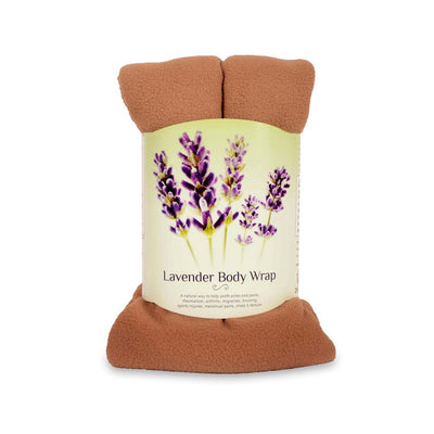 Zhu-Zhu Lavender Body Wrap Microwave Wheat Bag - Beige Camel