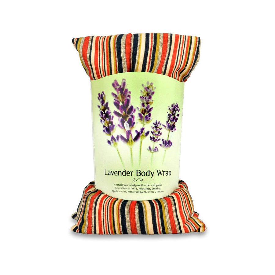 Zhu-Zhu Lavender Body Wrap Microwave Wheat Bag - Striped Cotton