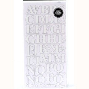 Chipboard Thickers - Text (White)