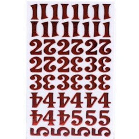 Foil Thickers - Tinsel (Cherry) - Numbers
