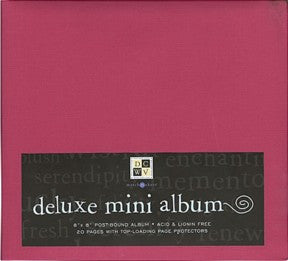"Deluxe Mini Album - Red (8"" x 8"")"
