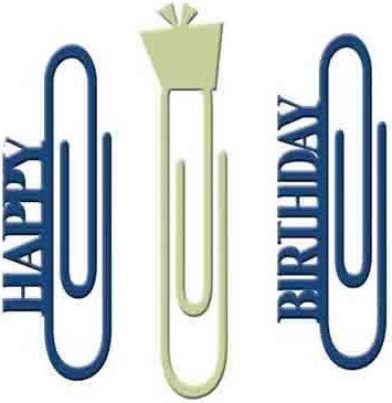 Paper Clips - Happy Birthday