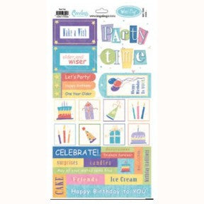 Party Time Word Play Stickers
