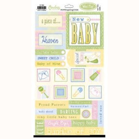 New Baby Word Play Stickers