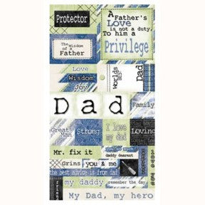 A Fathers Love Cardstock Stickers