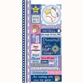Softball Cardstock Stickers