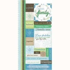 Grandparents Cardstock Stickers