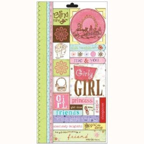 Girly Girl Word Play Stickers