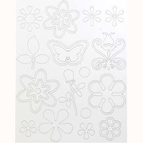 Floral Chipboard