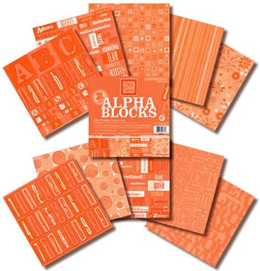 Alpha Block (8x8) - Outrageous Orange