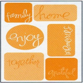 Stickers Rolled - Words Family