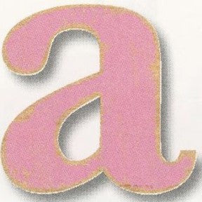 Vintage Wood Alphabet - Lowercase (Pink)
