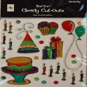 Clearly Cut-Outs - Birthday
