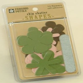 Chip Chatter Flowers (Pink/Spring Green/Brown)