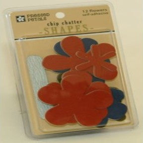 Chip Chatter Flowers (Red/Navy/Dark Green)