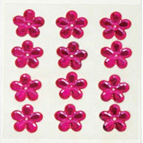 Large Flower Rhinestone - Hot Pink