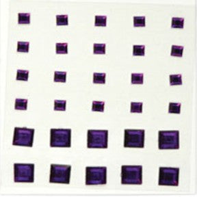 Square Rhinestones - Dark Purple