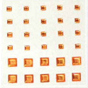 Square Rhinestones - Orange