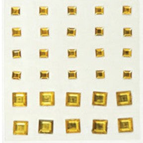 Square Rhinestones - Deep Yellow