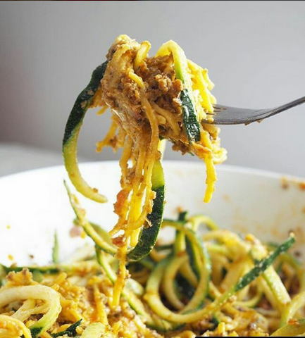 Pasta Evangelists | Trenette with courgette and red pesto