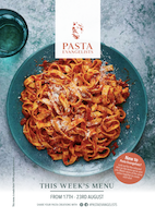Front cover of recipes book for Week commencing 17th Aug 2020
