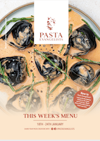 Front cover of recipes book for Week commencing 18th Jan 2021
