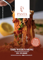 Front cover of recipes book for Week commencing 25th Jan 2021