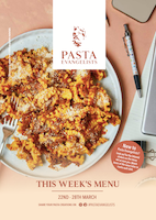 Menu Cover Week Commencing 22nd March 2021
