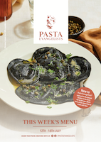 Menu cover week commencing 12th July 2021