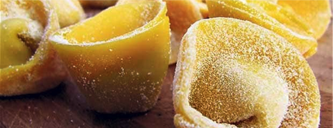 Fresh, hand-made and hand-filled tortellini pasta